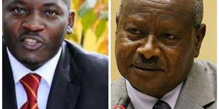 Mathias Mpuuga and President Yoweri Museveni