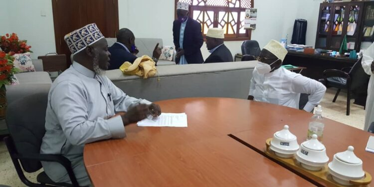 Mufti Shaban Mubajje with Sheikh Obeid Kamulegeya