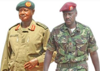 President Yoweri Museveni and First Son Muhoozi Kainerugaba