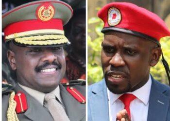 Gen Muhoozi Kainerugaba and Joel Ssenyonyi
