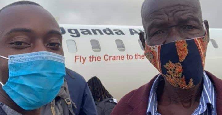 Henry Mutebe with Mzeei Dhabangi Wilson
