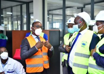 MPs with NWSC MD Dr Silver Mugisha