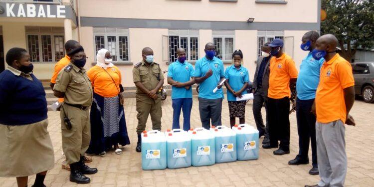 Kabale University donates detergent to Kabale Police