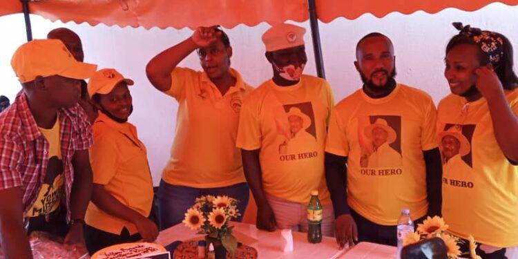 NRM yellow Brigade Celebrate Museveni's Belated birthday