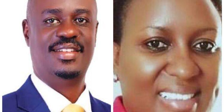 Former MPs Galabuzi Ssozi and Jovrine Kaliisa