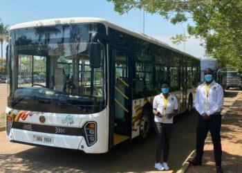 Kiira Motors' Kayoola EVS, a fully electric bus.